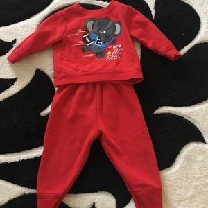 Other - Football elephant 6-9 months football red outfit